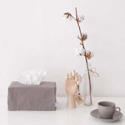 Solid natural tissue case _ Gray