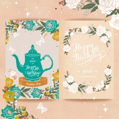 파스텔 생일축하카드