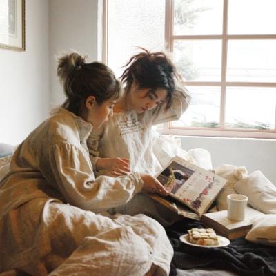 린넨 제인 잠옷 : Linen jane nightdress