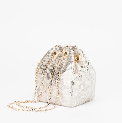 Metallic drastring mini [silver]