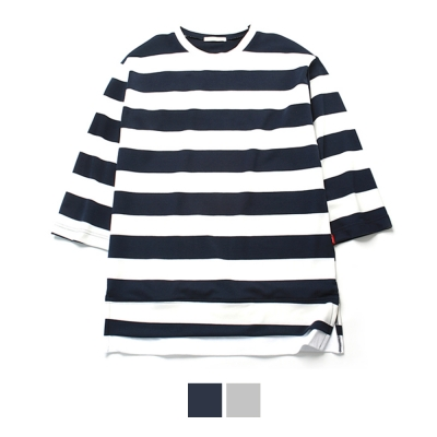 Stripe Over Fit Layered T-Shirts