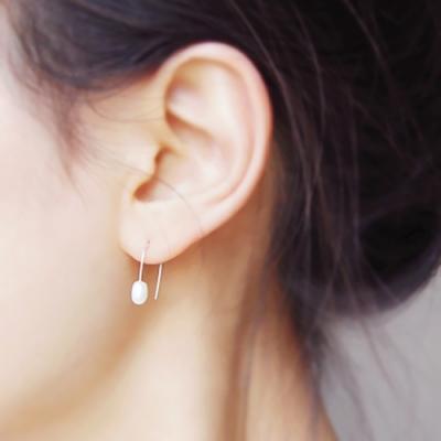 [하우즈쉬나우] Pearl River, Daily pearl Silver earrings