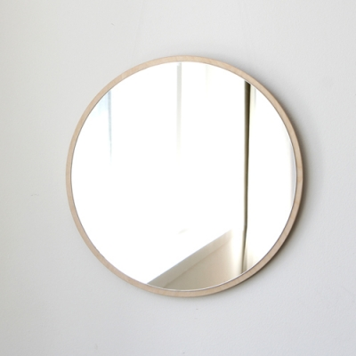 자작나무 원형 벽거울