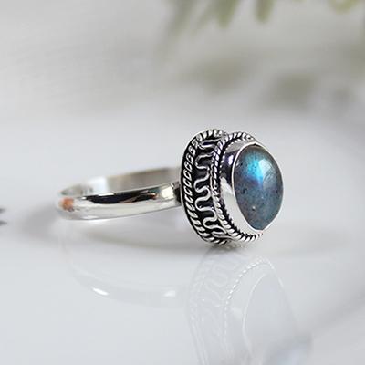 실버 아미르 래브라도라이트 반지 silver amir labrdorite ring