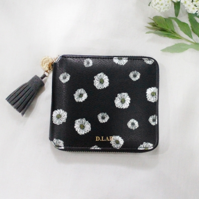 [스트랩 증정] D.LAB Flower zipper wallet - 3color