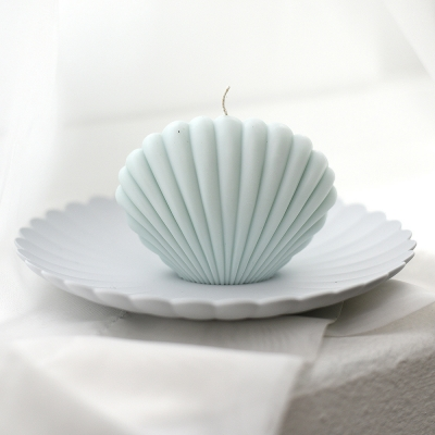 shell candle - mint