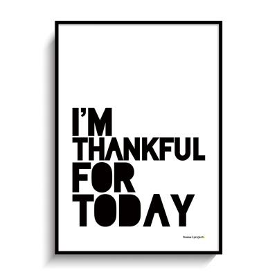 I'M THANKFUL FOR TODAY 북유럽 인테리어 포스터,액자