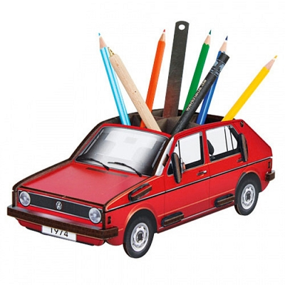 Pencil box-VW Golf red