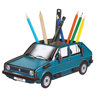 Pencil box-VW Golf blue