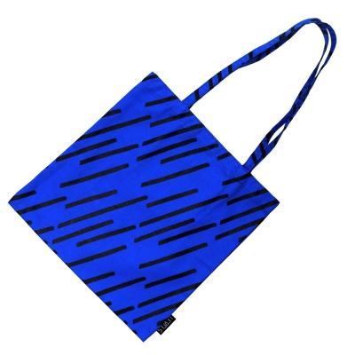 [레벨스] Diagonal rain 에코백 (blue)
