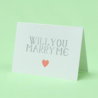 Will You Marry Me 윌유 메리미 레터프레스 프로포즈 카드