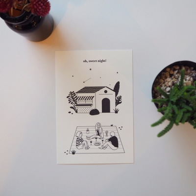 oh,sweet night! _ postcard