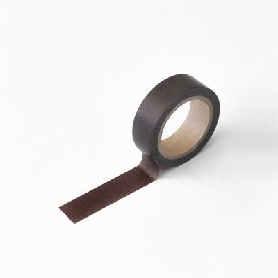 왈가닥스 솔리드 마스킹테이프 - 112 Chocolate
