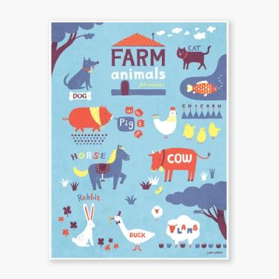 Farm Animals Art poster
