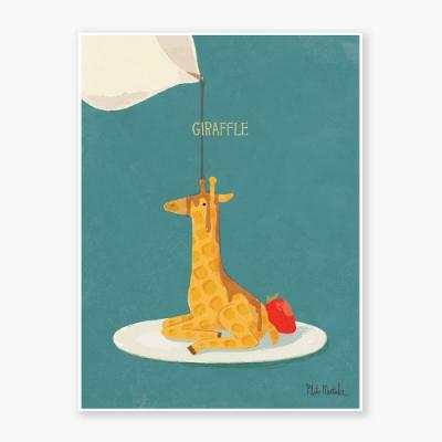 Giraffle Art poster