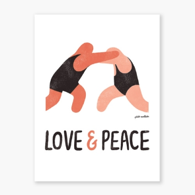 Love & Peace Art poster