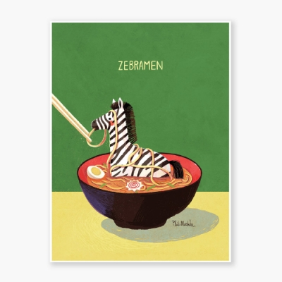 Zebramen Art poster