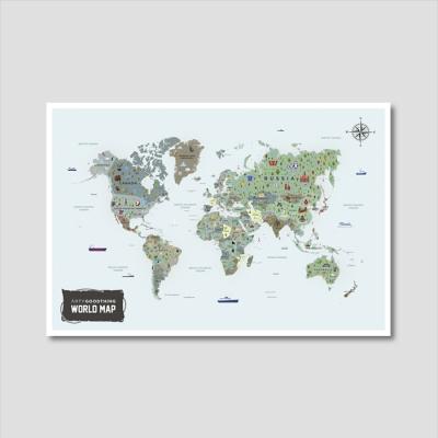 세계지도 아트프린트 에디션 no. 0003