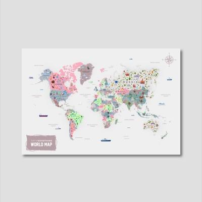 세계지도 아트프린트 에디션 no. 0004