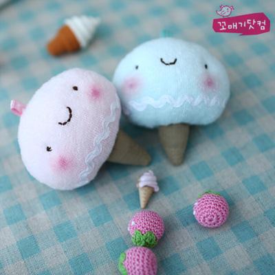[DIY]딸기&소다 아이스콘 커플 만들기 패키지