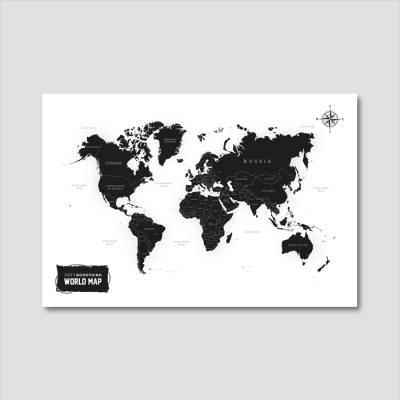 세계지도 아트프린트 에디션 no. 0006