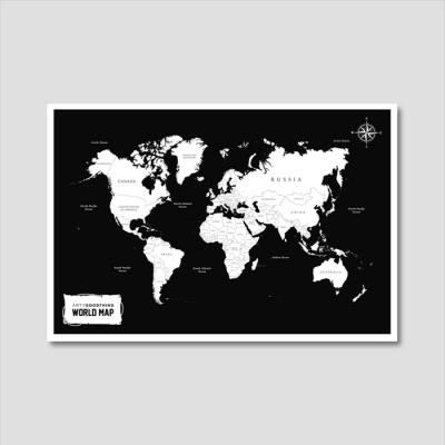 세계지도 아트프린트 에디션 no. 0007
