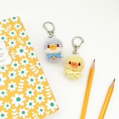 손뜨개 열쇠고리, 키링, 가방걸이, 핸드폰줄 - 펭귄과 오리