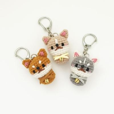 손뜨개 열쇠고리, 키링, 가방걸이, 핸드폰줄 - 강아지