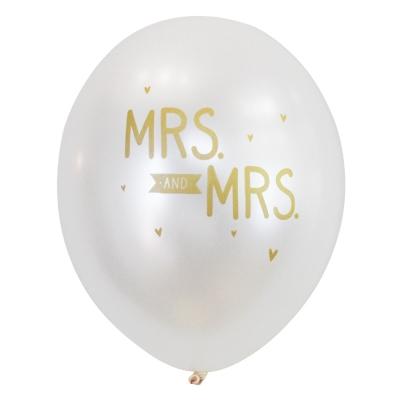 balloon-Mrs. And Mrs.(6pcs)
