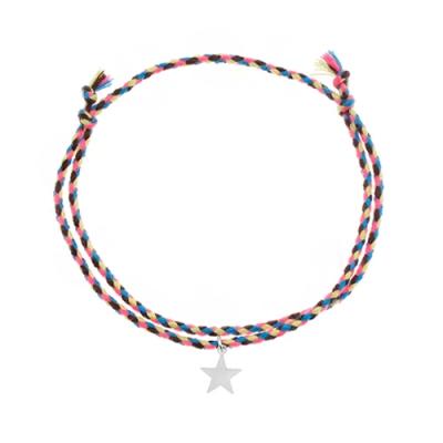 [RAINBOW발찌] 92.5 Silver Star Vintage Misanga Anklet (택2)