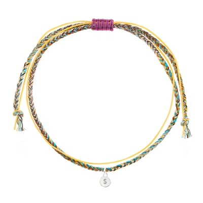 [Rainbow 발찌] 92.5 Silver Initial Mustard Variation Anklet