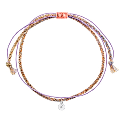 [Rainbow 발찌] 92.5 Silver Initial Orange Variation Anklet