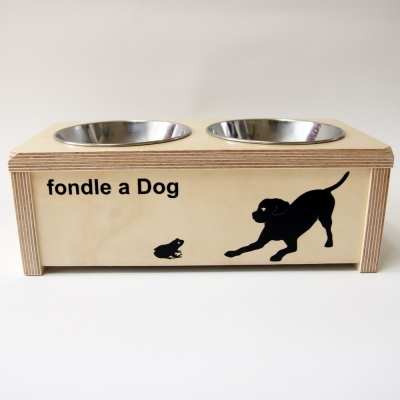 [포코] 자작나무 원목 강아지 식탁 2구