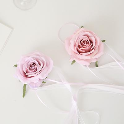 브라이덜샤워 꽃팔찌-로즈(라일락앤머브)_(305750)