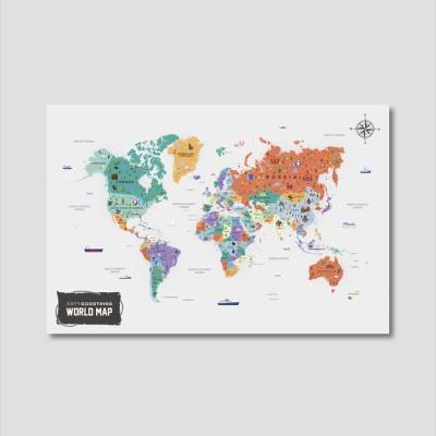 세계지도 아트프레임 에디션 no. 0008