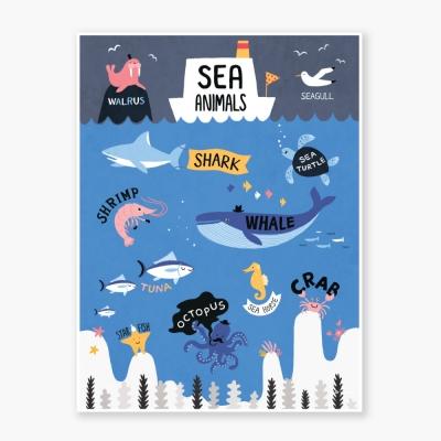 Sea Animals Art poster