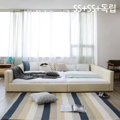 모던라운지 엠보 SS+SS 패밀리 침대+독립매트리스_(10894392)