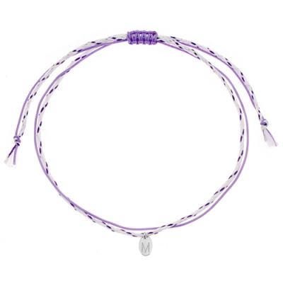 [Rainbow 발찌] 92.5 Silver Initial Purple Line Anklet