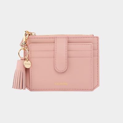 [미니태슬증정]Dijon 301S Flap mini Card Wallet  light pink