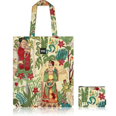 nother Frida's Garden Flat Tote Bag & Pouch (Frida Kahlo)