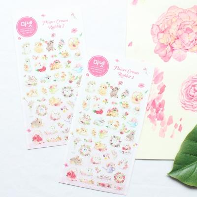 마넷 스티커 - Flower Crown Rabbit 2(화관토끼 2)