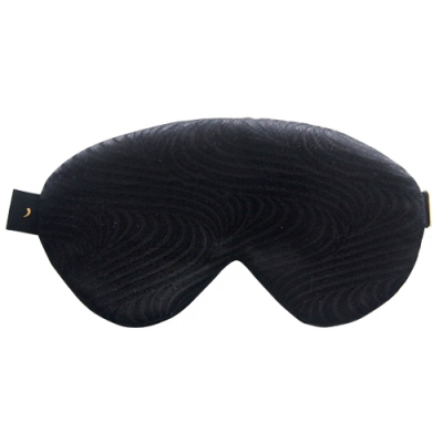 all black silk sleep mask