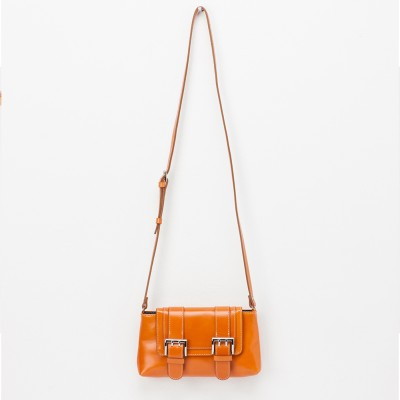 NEW DOUBLEBELTED CROSSBODY[tan]