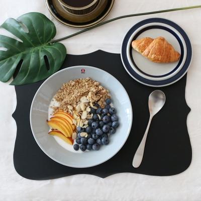 실리콘 엔틱 보드 식탁매트 - 블랙