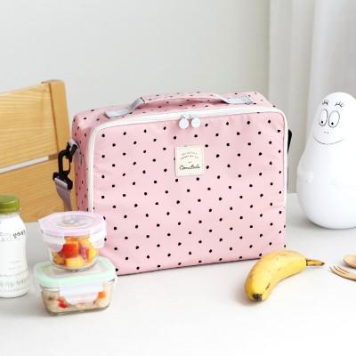 코니테일 큐브 쿨러백 - 핑크도트