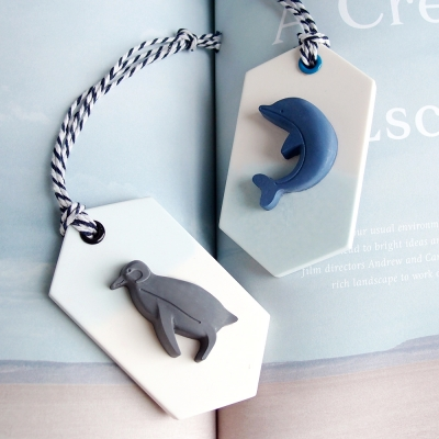 Penguin & Dolphin 석고방향제타블렛