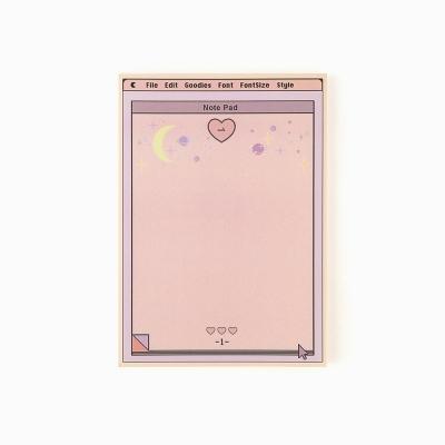 pink heart memo pad_ L