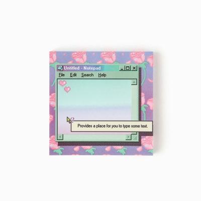retro rose memo pad
