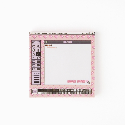 game over memo pad