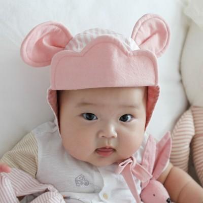 [꿈꾸는두부]구르미마우스(핑크) 동물보넷 아기모자(S/M)